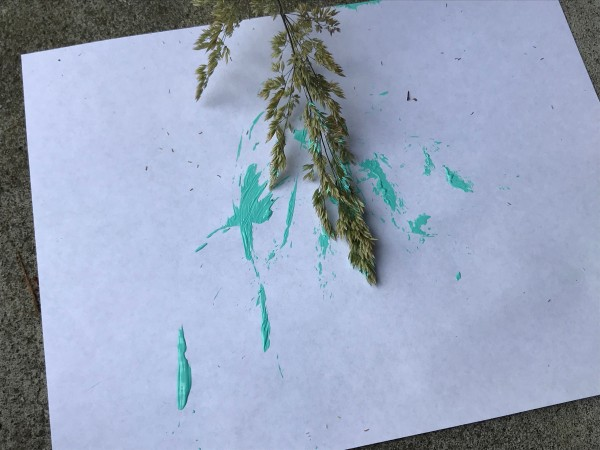 Natural Paint Brushes - painting with a grass head