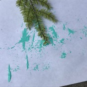 Natural Paint Brushes - fir branch painting