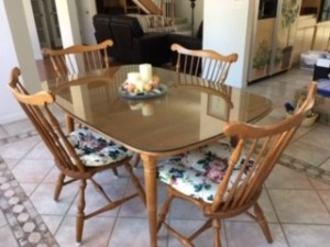 Value of a Vintage Conant Ball Dining Room Set? - light wood finish set, perhaps maple
