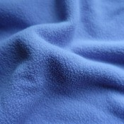 A soft blue fleece fabric.