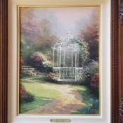 Value of a Thomas Kinkade Canvas Painting? - garden gazebo painting, Lilac Gazebo