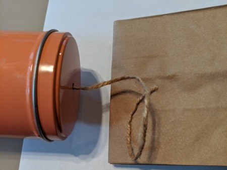 Paper Bag Nature Journal with Collection Pockets - twine and paper bag