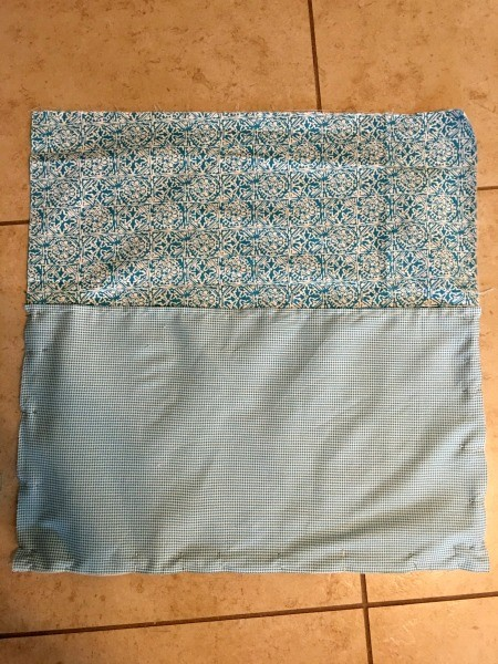 Pocket Pillow - fabric layers ready to sew