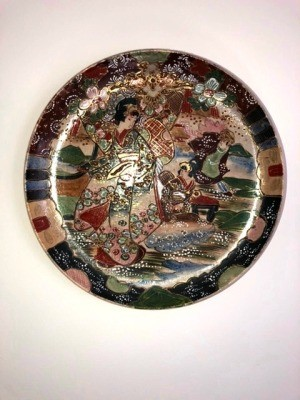 Asian design decorative plate