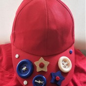 Red White and Blue Caps for the Fourth - finished red cap