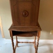 Antique Imperial Telephone Table