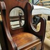 Removing Black Spots on an Antique Mirror? - small mirror