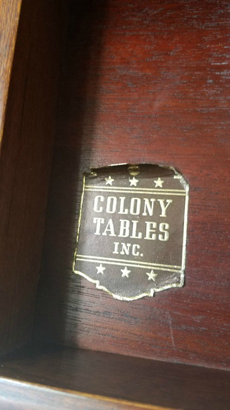 Colony Table Tag.