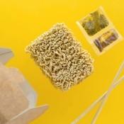 Ramen noodles and seasoning packets.
