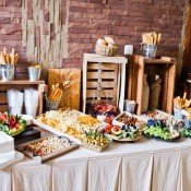 A luncheon wedding buffet.