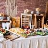 A luncheon wedding buffet.
