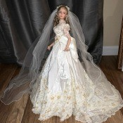 Identity and Value of a Porcelain Doll? - bride doll with elaborate dress