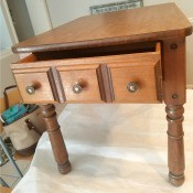 Value of Vintage Mersman End Table? - end table with one drawer and perhaps maple finish