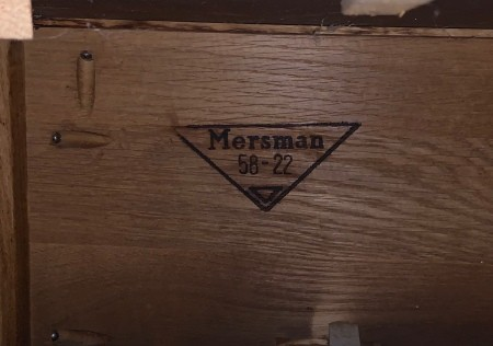 Value of a Mersman Leather Top Side Table?