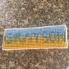 Personalized Needlepoint Bookmarks - finished bookmark