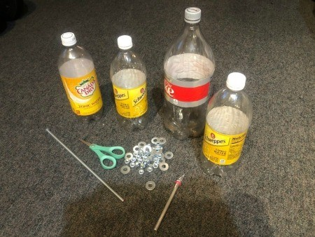 Upcycled Plastic Bottle Jewelry Stand - supplies