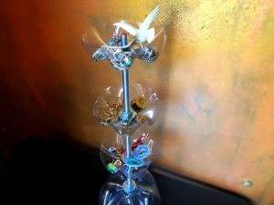 Upcycled Plastic Bottle Jewelry Stand - done