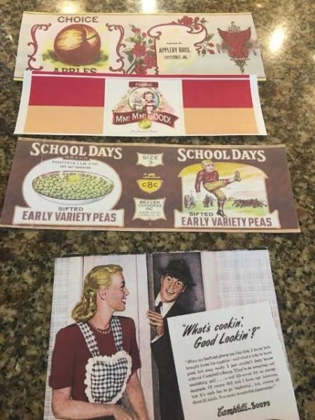 Fun Vintage Decor - printed labels
