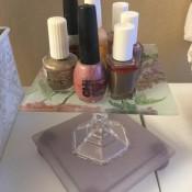 Cute Candlestick Holder Caddies - nail polish caddy