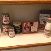 Fun Vintage Decor - several finished relabeled containers