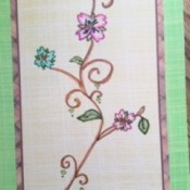 Watercolor Greeting Cards - a finished card