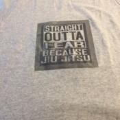 DIY T-shirt - finished t-shirt with jiu jitsu themed print