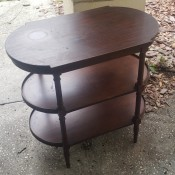 Value of a Refinished Mersman Table? - original mahogany three tiered oval table