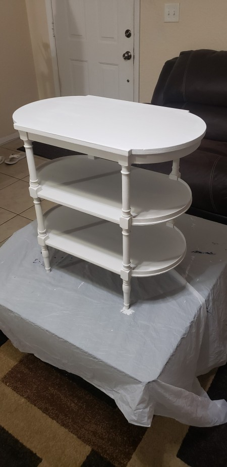 Value of a Refinished Mersman Table? - table painted white