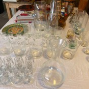 Identifying Vintage Glassware? - collection of glassware on table