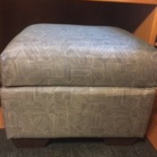 Re-Upholstered Ottoman - finished ottoman