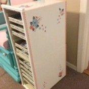Boxy to Shabby Chic Cabinet - finished cabinet