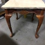 Upcycled Wooden Table - sanded top