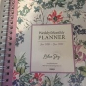 A weekly/monthly planner.