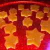 A plate of star shaped apple cider vinegar gummies.