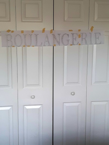 Farmhouse Style Signs - stenciled version of the sign on paper
