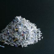 A pile of shredded paper