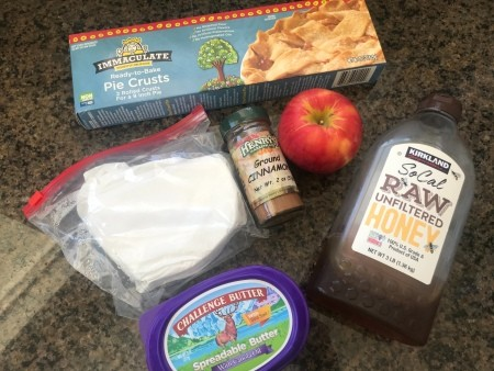 Ingredients for apple and brie hand pies.