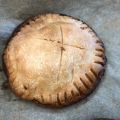 A baked apple and brie hand pie.