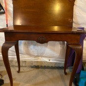 Value of a Brandt Flip Top Card Table? - table with the top flipped up