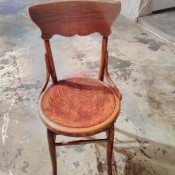 Identifying Antique Chairs? - armless wood chair with round seat