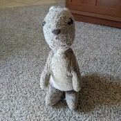 Identifying a 1970s Rabbit? - gray and white stuffed bunny