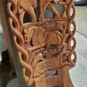 A carved wooden piece.