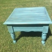 Double Distressed Farmer's Table - finished table