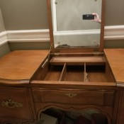 Value of a Bassett Mirrored Vanity? - vanity with fold up mirror
