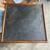Value and History of a Slate Topped Brandt Table? - table with dark slate top