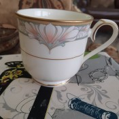 Value of Noritake Barrymore China Set? - side view of coffee cup