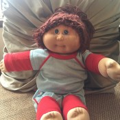 Value of a 1984 Cabbage Patch Doll? - doll wearing sweats