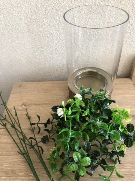 Decor for Less Using Hurricane Vases - remove the leaves and flowers from the stems