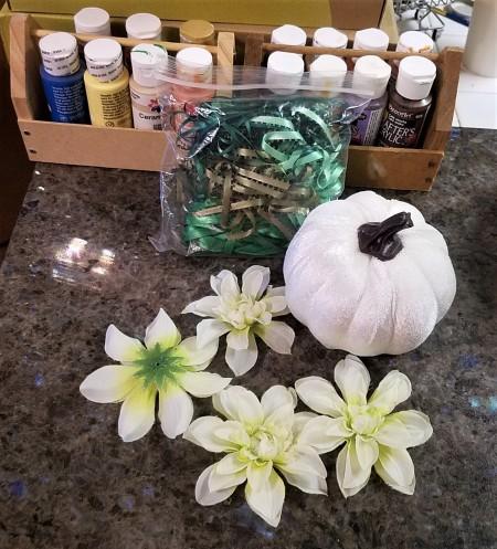 Easy Peasy Pumpkin Decor - supplies
