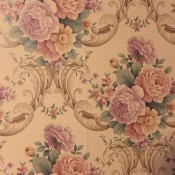 Discontinued Imperial # 15932559 Run 8? - beige floral paper with pink roses